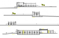 Detail of section mall project dwg file