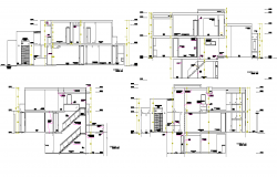 Detail of section single family home plan autocad file