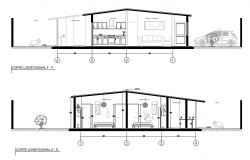 Detail of single family home plan layout file