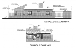Detail of single family house plan layout file
