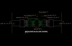 Detail of valve plan autocad file