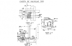 Detail of valve section layout file