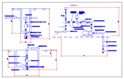 Detail of watering and plumbing system of bathroom dwg file