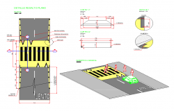 Detail road pavement structural elevation layout file