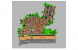 Detail road structural plan 2d view layout autocad file