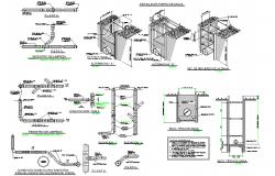 Detail sewerage plan layout file