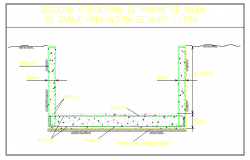Detail structural solution of a ramp garage
