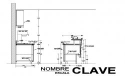 Detail structure elevation 2d view autocad file