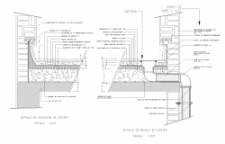 Detail terrace with insulation plan.detail dwg.,