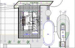 Detailed Elevation Plan of Villa dwg file