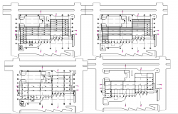 Detailed architectural plan detail dwg file.
