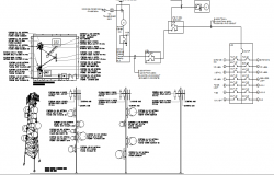 Detailed design of three legged electric region tower dwg file