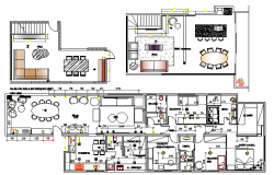 Detailed layout plan of one family house project dwg file