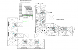 Detailed section construction plan detail dwg file.
