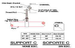 Detailed supporting pipes architecture project dwg file