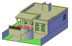 Detailing house dwg file