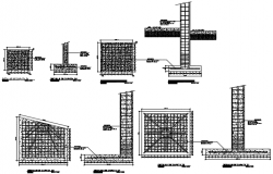 Detailing of foundation section plan dwg file