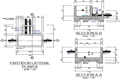 Details lateral plan detail dwg file