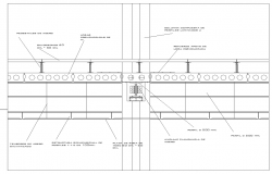 Details of a floor and suspended ceiling