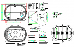 Details of athletics track design drawing