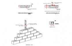 Details of castles-anti-seismic column
