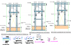 Details of foundation with column of building dwg file
