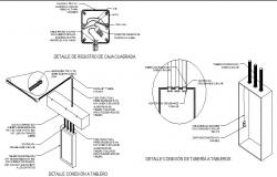 Details of load center, registration and electrical box cad drawing details dwg file