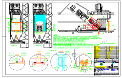 Details of machinery with elevations