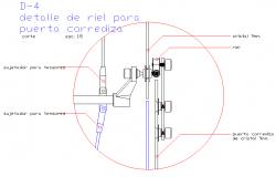 Details of side railing door
