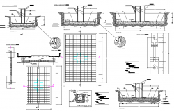Details of superficial foundation dwg file