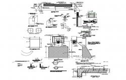 Details of the specified iron detail of steel pipe cad structure details dwg file