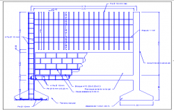 Details of wall and perimeter fence of garden dwg file