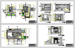 Development of main bedroom and restroom design drawing