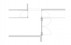 Different Door structure 2d view detail layout dwg file