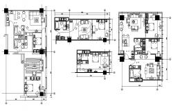Different Type Of Apartment Floor Plans  AutoCAD File