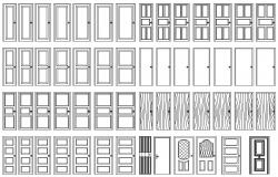 Different Types of door AutoCAD drawing