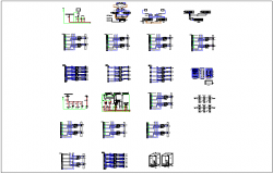 Different diagram and information dwg file detail