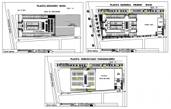Different layout Shopping center dwg file