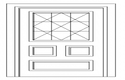 Different style of door elevation design drawing