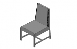 Dining Chair 3d elevation