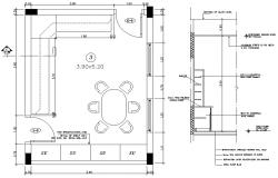Dining Room Plan AutoCAD Drawing