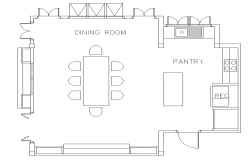 Dining room plan detail dwg.