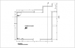 Dining room plan for admin building dwg file