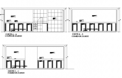 Dining room section detail dwg file