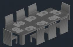 Dining table design in autocad