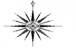Direction symbol compass detail