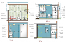 Disable bathroom structure layout details dwg file