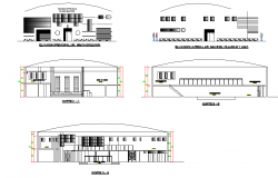 Disco elevation and section autocad file