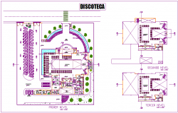 Discotheque  area floor plan view dwg file