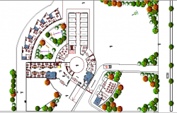 Disease Care Facility Hospital Landscaping Dwg file